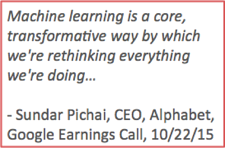 Machine Learning transformation