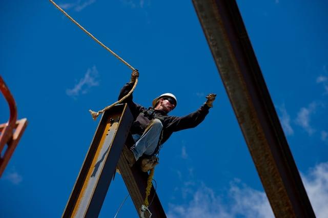 Safety on contruction jobsites. Image courtesy of ENR.