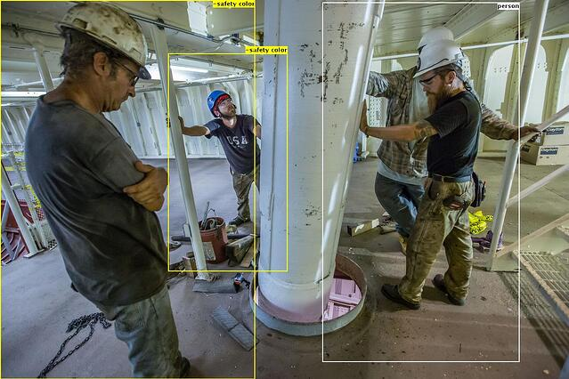 VINNIE has flagged potential for missing safety vests. Image courtesy of ENR.