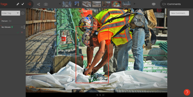 Smartvid.io detects no gloves. Image courtesy of ENR
